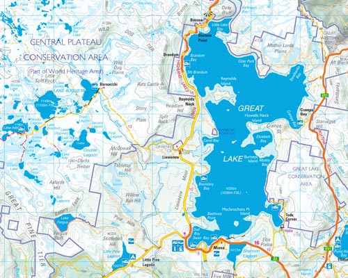 Tasmap eshop buy tasmanian maps online highland lakes product the reverse side features updated detailed notes and maps covering the prime fishing lakes the notes are packed with valuable information on regulations gumiabroncs Images