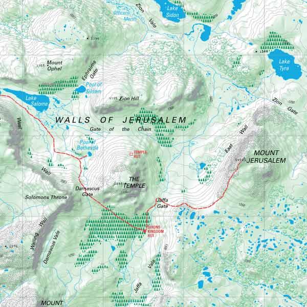 TASMAP eShop  buy Tasmanian maps online  Walls Of Jerusalem